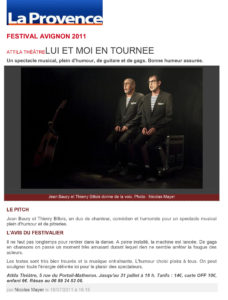 festival Avignon Lui et Moi
