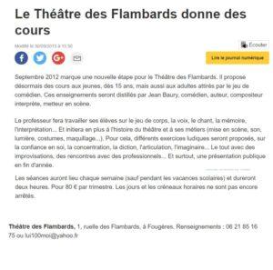 Presse théâtre Flambards